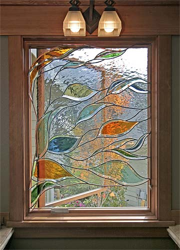 image of the stained glass window in Liberty Lake