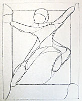 graphic of a figure drawing